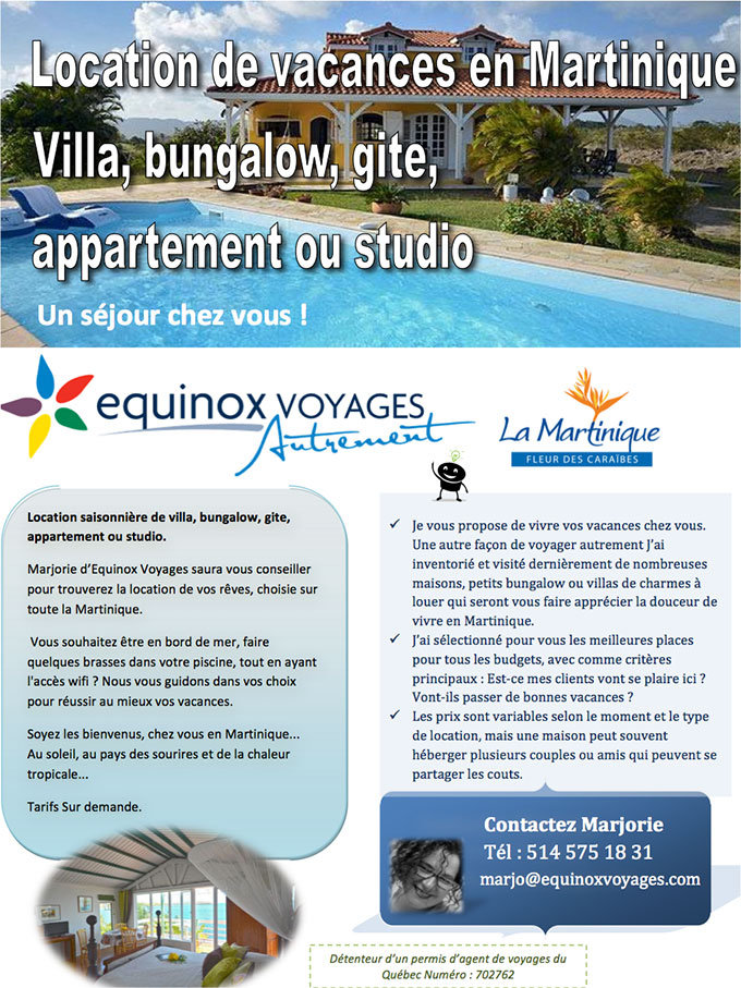 Location de villas en Martinique
